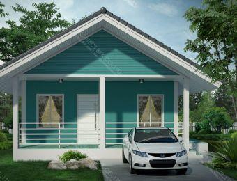 แบบบ้านชั้นเดียว Tropical Style, Tropical Style ,แบบบ้านชั้นเดียว,แปลนบ้านชั้นเดียว, แบบบ้านสำเร็จรูป, แบบบ้านสวยๆ, แบบบ้านชั้นเดียว 2 ห้องนอน 1 ห้องน้ำ